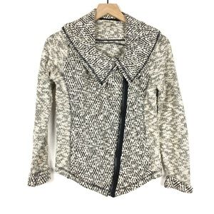 Lucky Women Jacket S Boucle Tweed Asymmetrical Zip